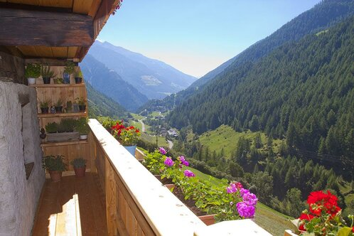 balcony with herb corner and view at the village certosa