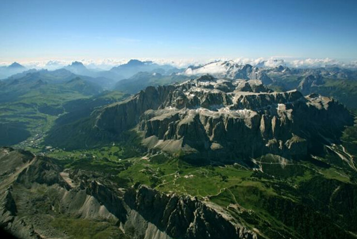 The Sella massif from eagle's eye view | © Magnolia
