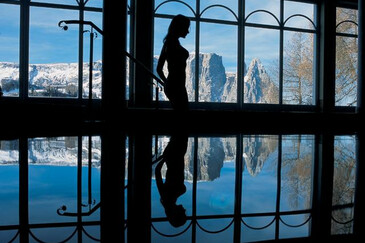 Spa with scenery on the Alpe di Siusi/Seiser Alm | © Magnolia