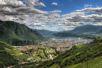 View over South Tyrol's capital city of Bolzano
