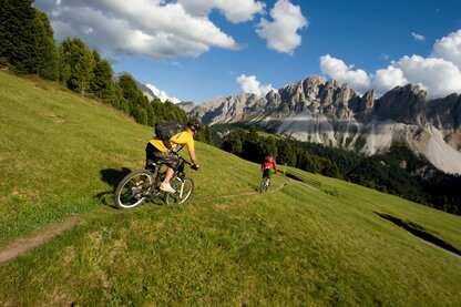 Mountain biking the Plose, Bressanone's local mountain