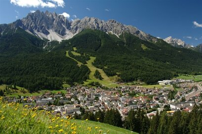 The village of San Candido in summertime