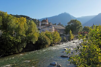 The Kurhaus in Merano on the Passirio river