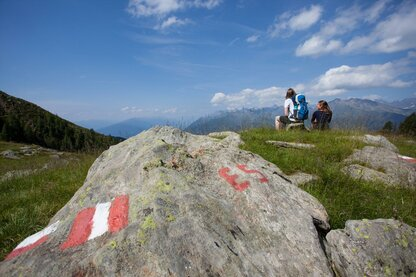 Hiking along the European long distance hiking trail in Passeiertal