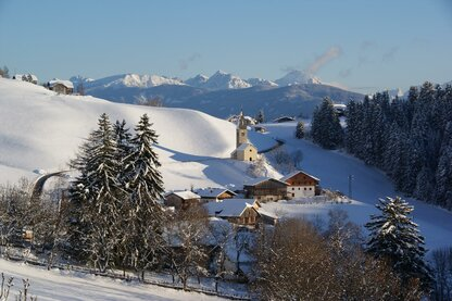 The village of Terento in wintertime